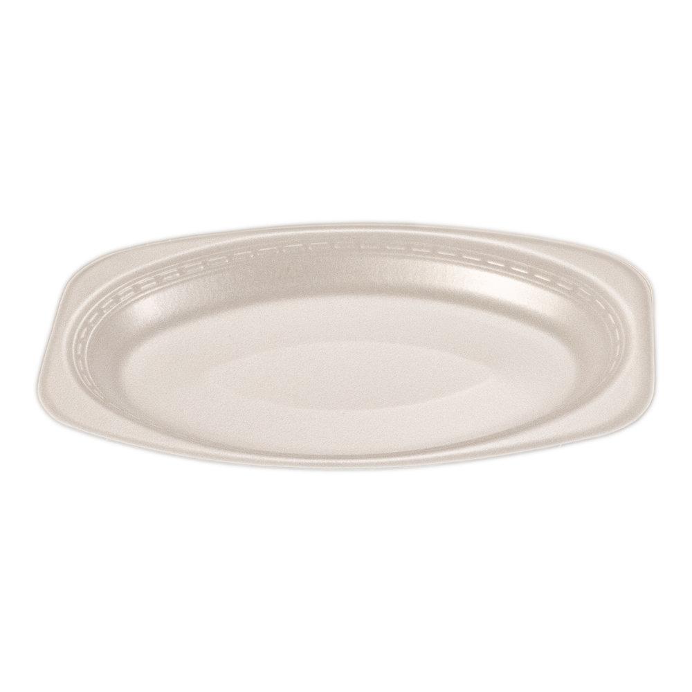 iK-FP79 Plate Oval White    7 x 9 inch 100per sleeve 500 carton