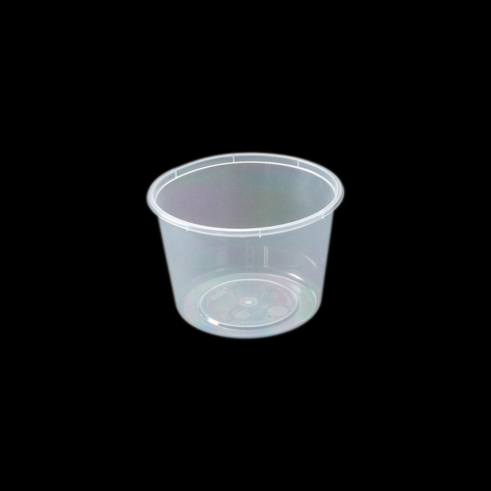 iK-C22 Takeaway Containers   Round 600mL 50 per sleeve 500 per carton
