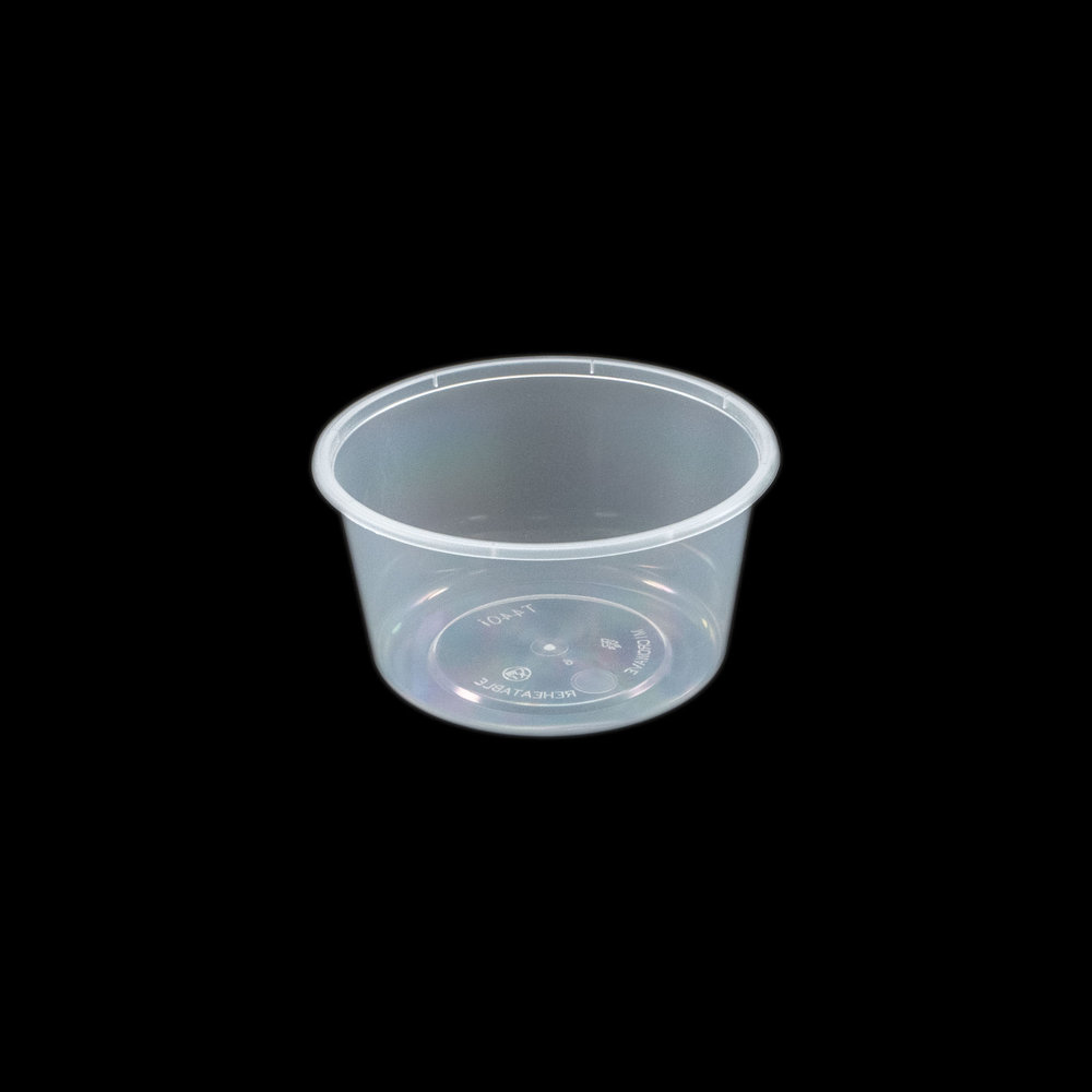 iK-C16 Takeaway Containers   Round 440mL 50 per sleeve 500 per carton