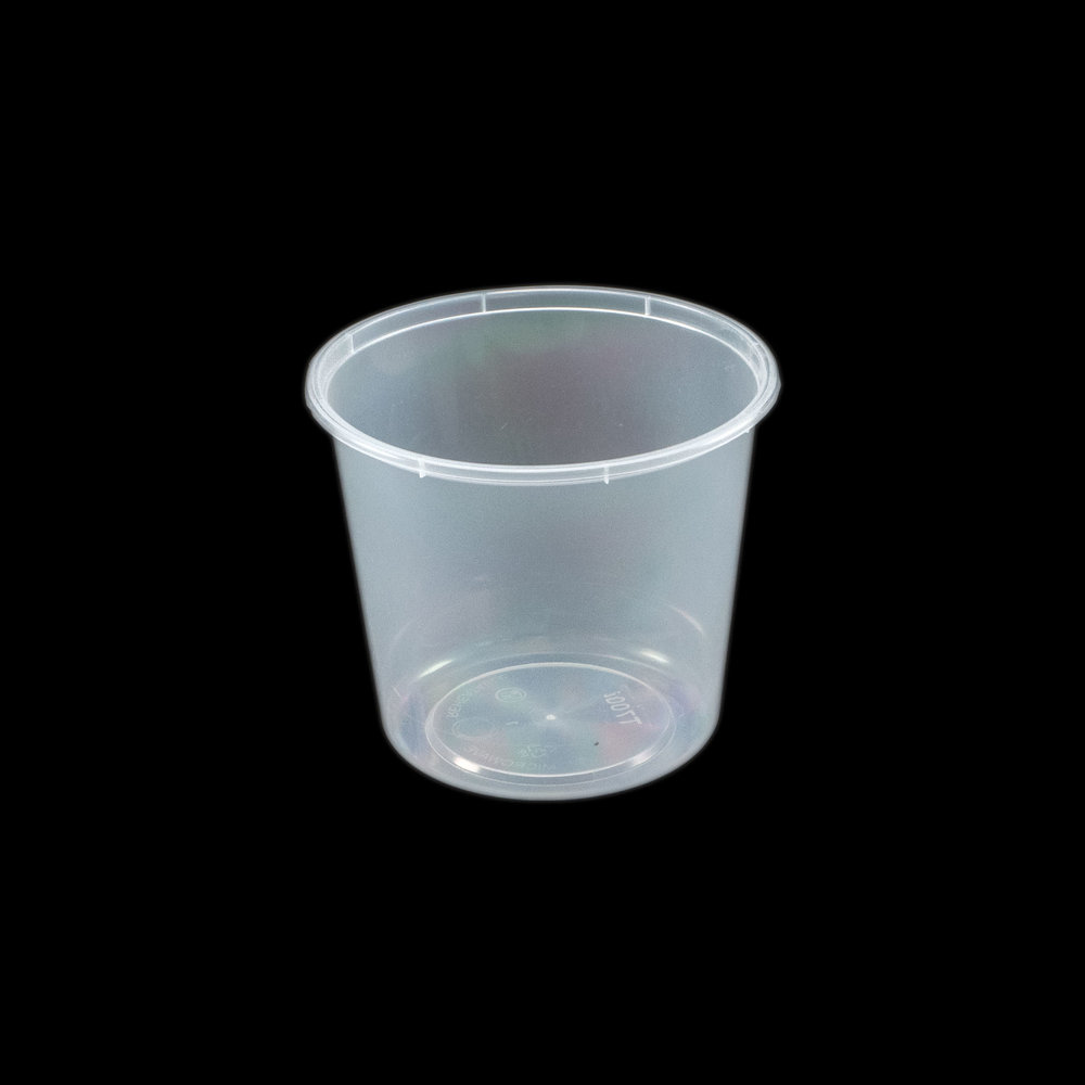 iK-C25 Takeaway Containers   Round 700mL 50 per sleeve 500 per carton