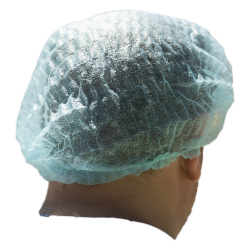 "iK-HNETB      Disposable Hair nets Bouffant ( cover) 21 ""inches     White Hair net crimped Fits all 10x 100 (1000) per carton"
