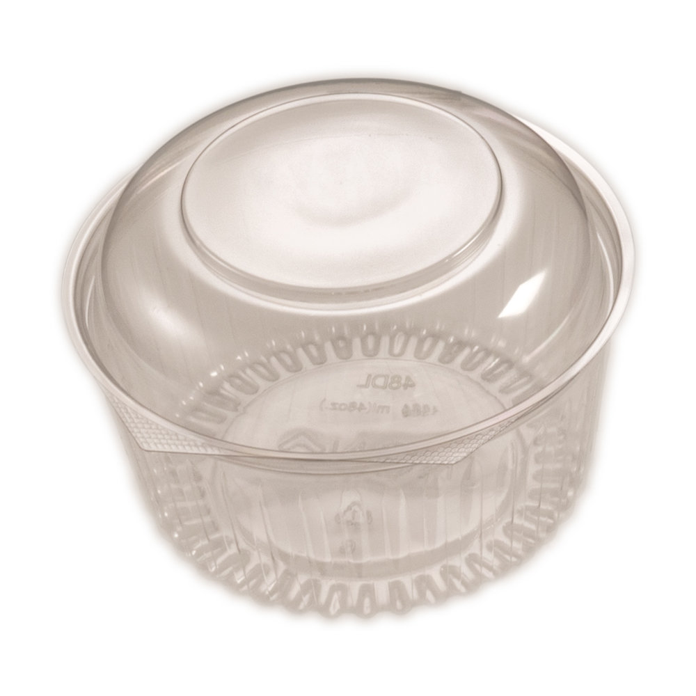 iK-6648DL    48oz RND WITH DOME HINGED LID   1364ml (48oz)  50 per slv 150 per carton