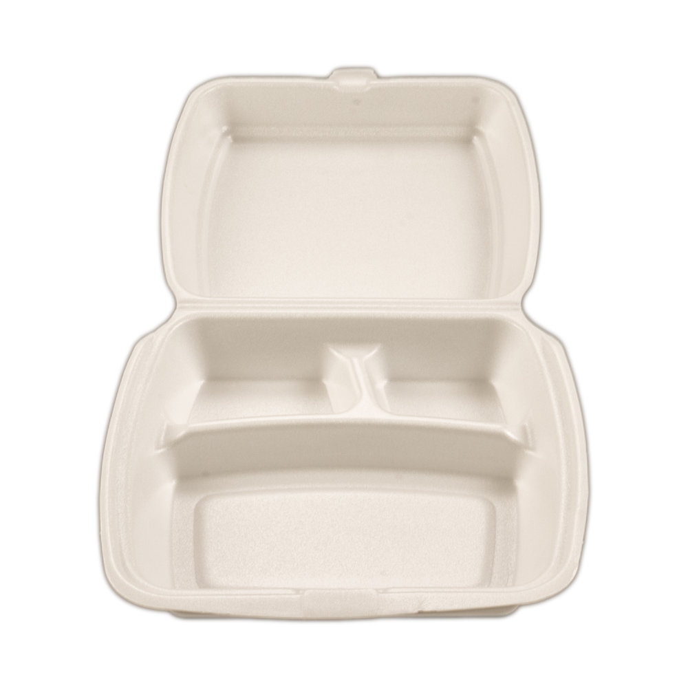 iK-FC5      Foam Clam Dinner Pack 3 Compartment    233 x 483 x 42mm 100 per slv 200 per carton