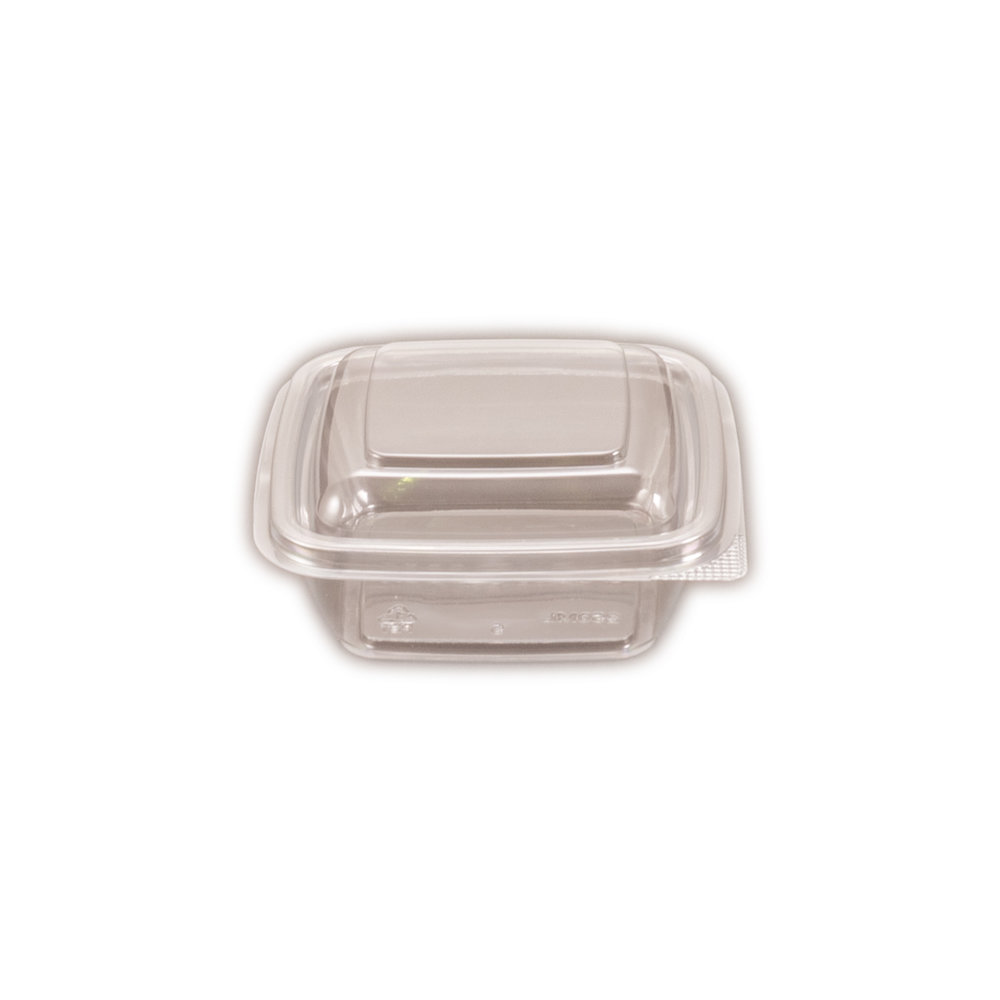 iK-CUBE8 Hinged Lid     Containers Square 250ml 50 per slv 250 per carton