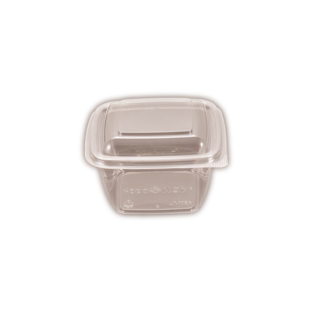 iK-CUBE12 Hinged Lid     Containers Square 450ml 50 per slv 250 per carton