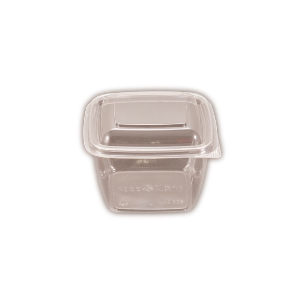 iK-CUBE16 Hinged Lid     Containers Square 600ml 50 per slv 250 per carton
