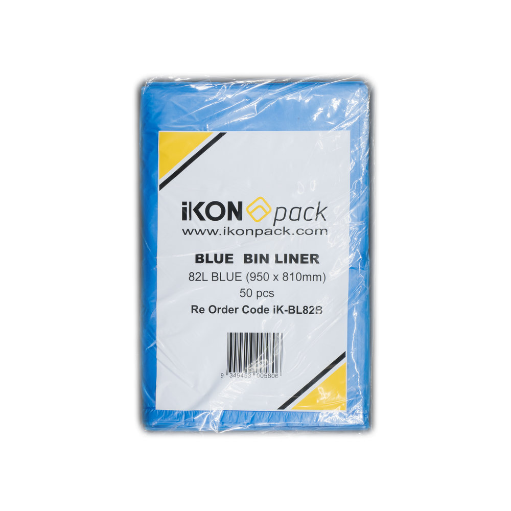 iK-BL82B Bin Liner   82L 950 x 810mm  50 pc 4 packets per carton