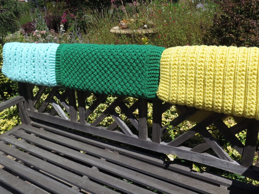 AE - Rhonda's 3 prayer shawls.JPG