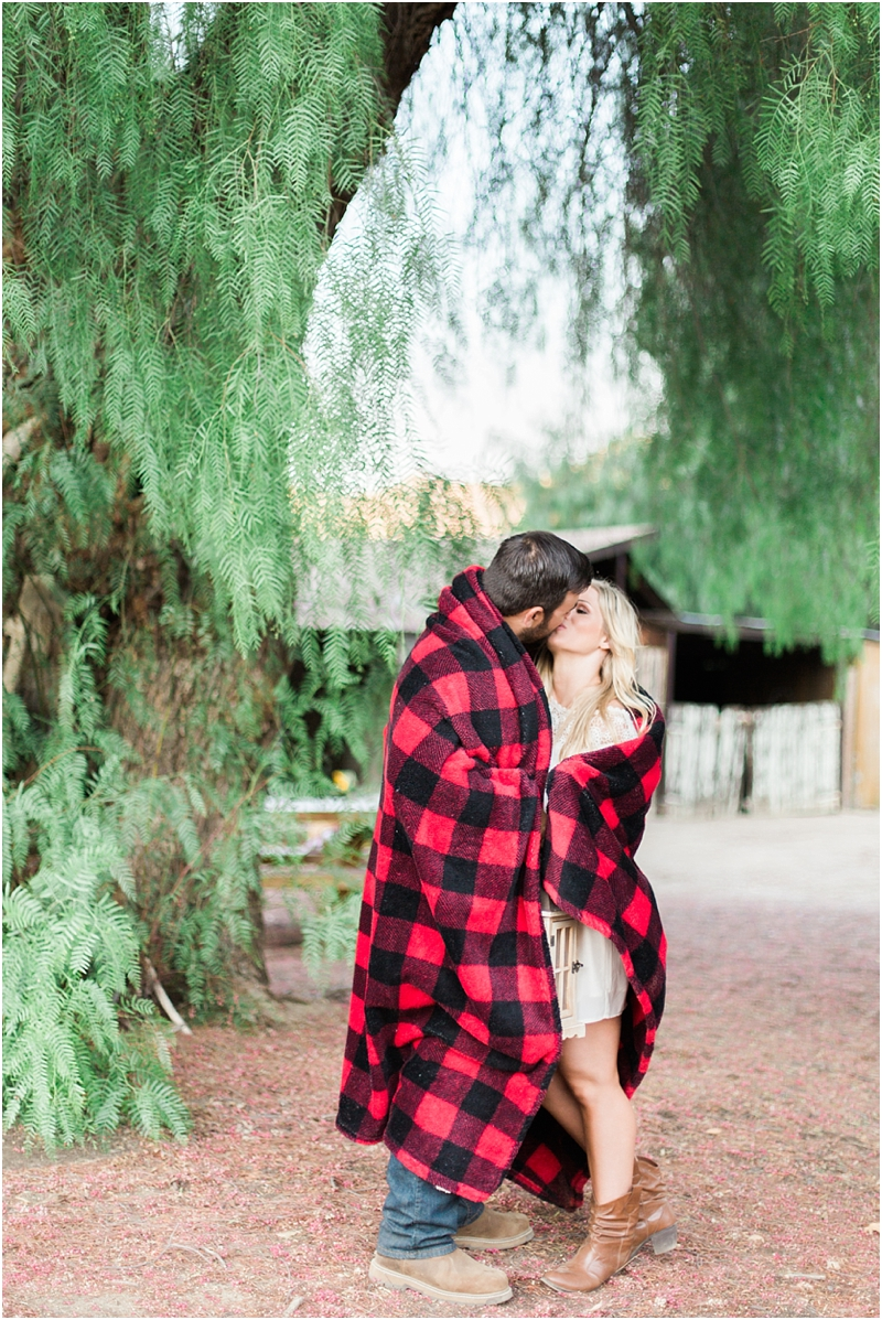 flannel blanket and kissing