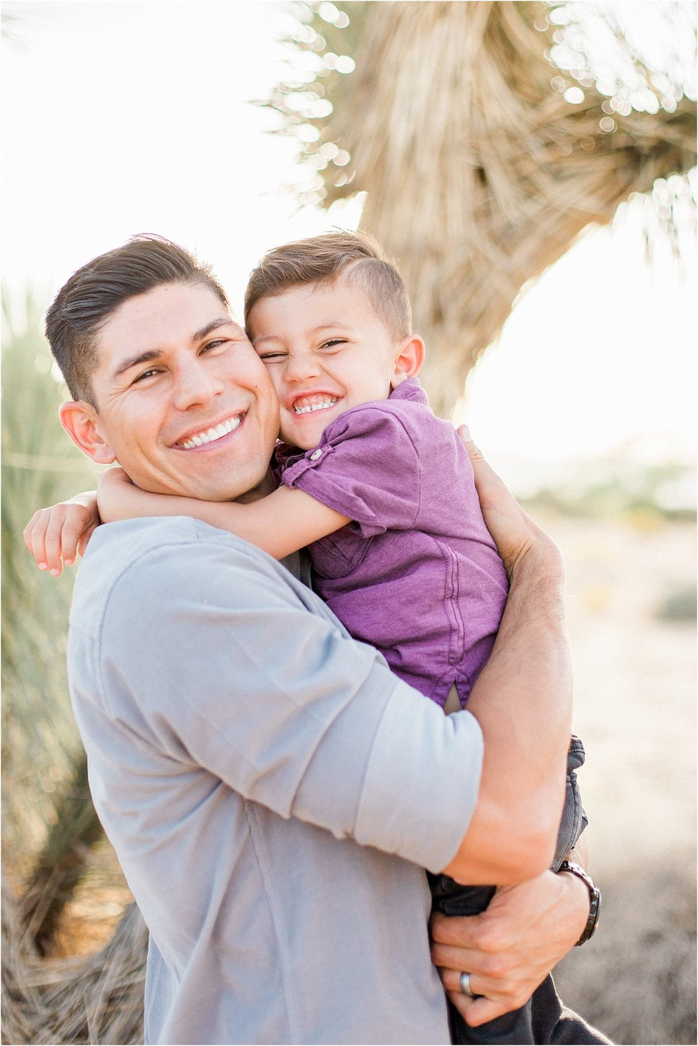 Southern California desert family session