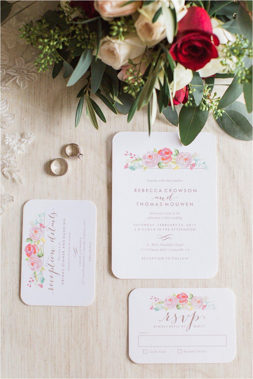 Invitation Suite Camarillo Ranch Wedding