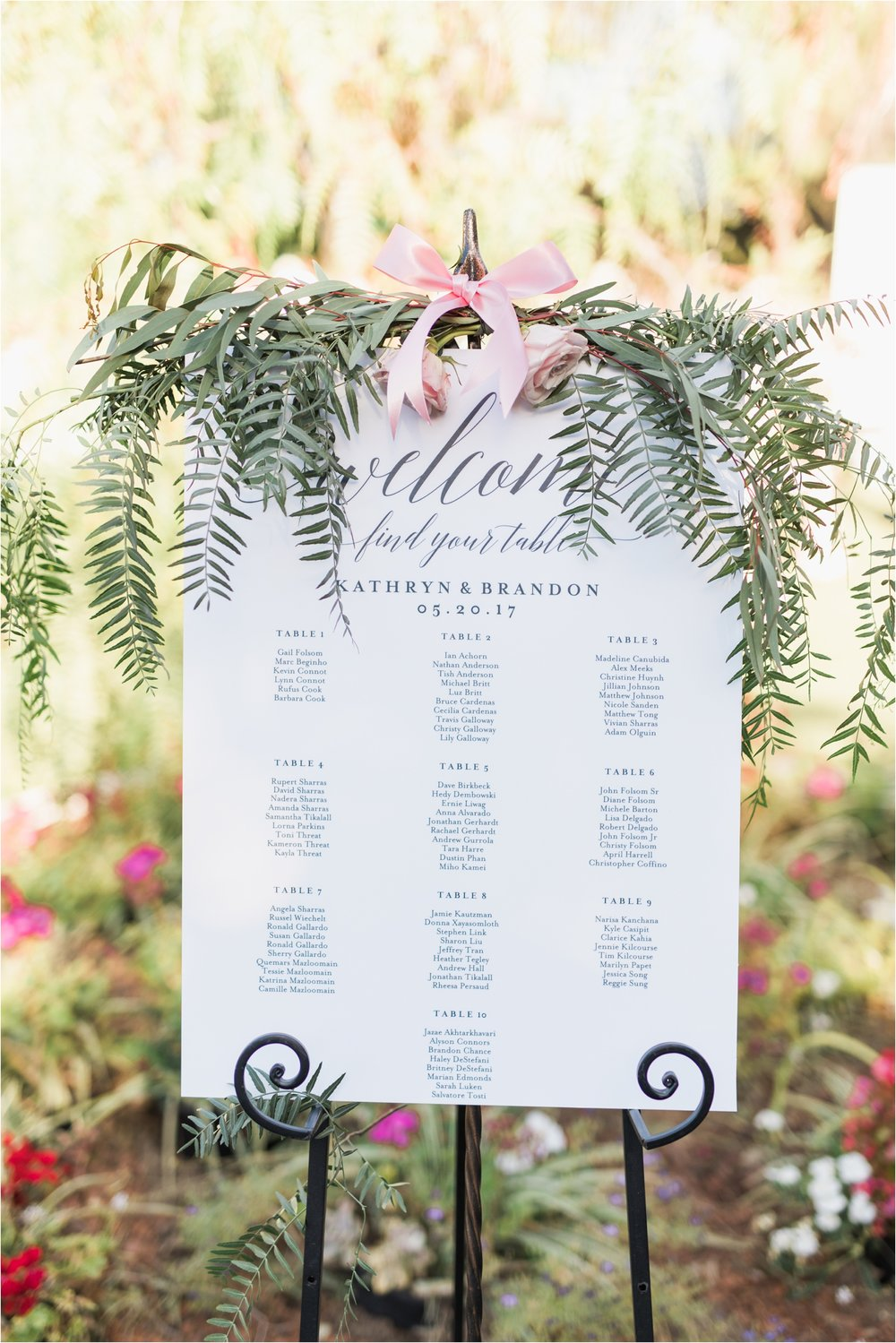 wedgewood at the orchard wedding gold seating chart