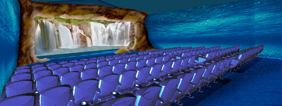 Themed theatre and water stage