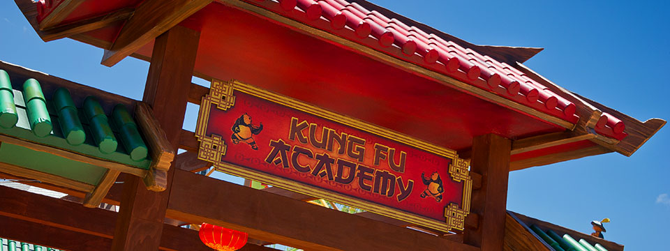 The Kung Fu Academy play area.