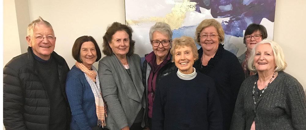 2018 Committee members John Heffernan, Barbara Goldin, Diana Rawson, Julie Percy, Alison Stewart, Lyn Teal, Judy Laird, eva purnell