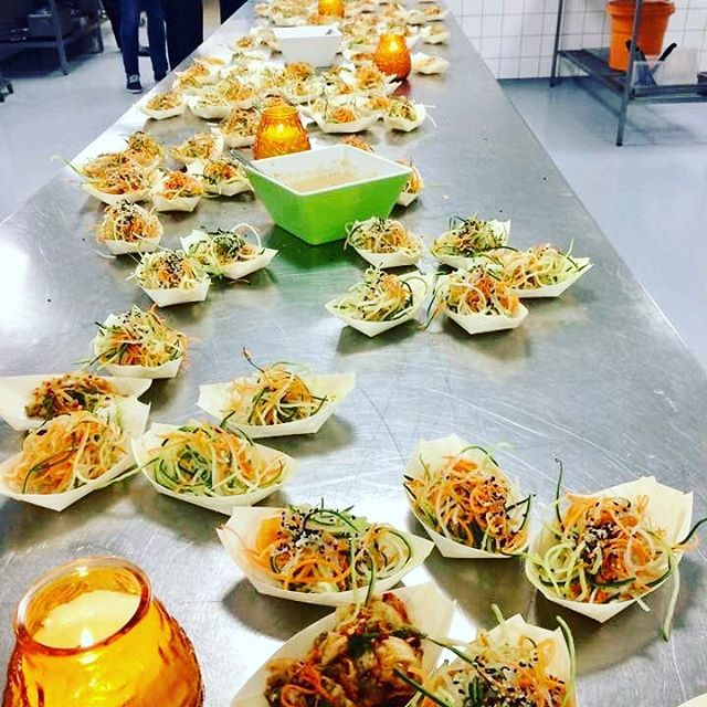 Fyraftensreception i produktionskøkkenet - den nye ombygning fejres!!! #annesgademad #welovefood  #takforskønfest