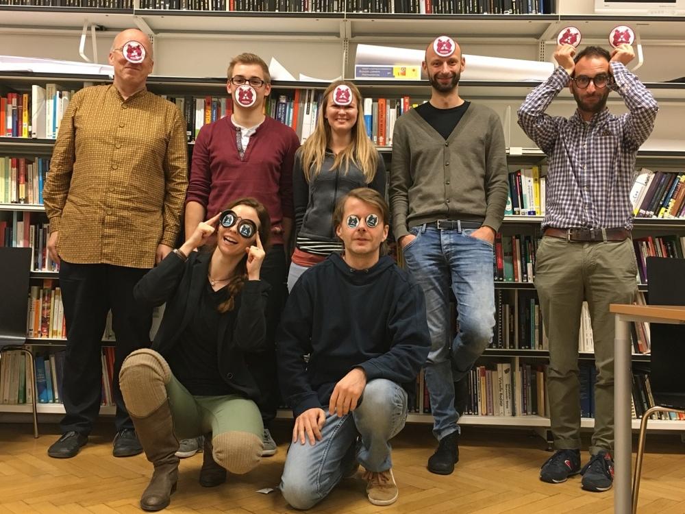 Das Team der WissKomm freut sich auf kreative Ideen. Foto: Peter Purgathofer. Zur Verwendung freigegeben.