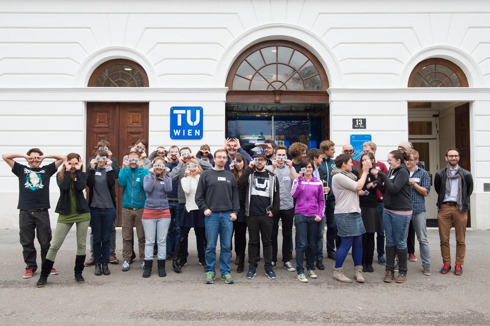 Die TeilnehmerInnen der WissKomm. Foto: cc-by  Luiza Puiu , zur Verwendung freigegeben.
