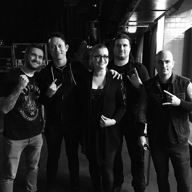 Meeting #Trivium makes a girl happy ❤#rockefeller