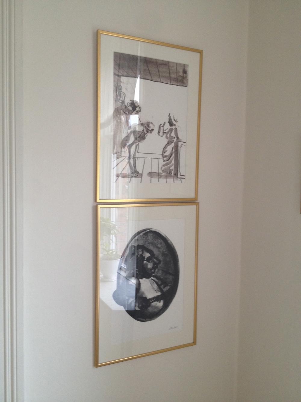 Två grafiska verk ur Peter Dahls Fredmans Epistlar   Foto:  Palatsliv