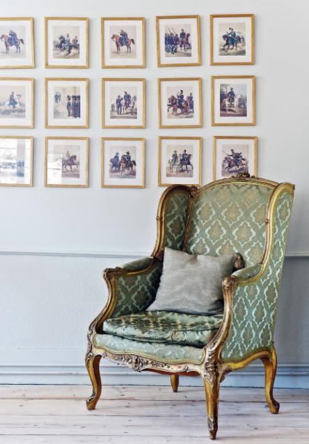 Tavelvägg med kungamotiv Foto: Ken Pils/ Leva&Bo, Expressen