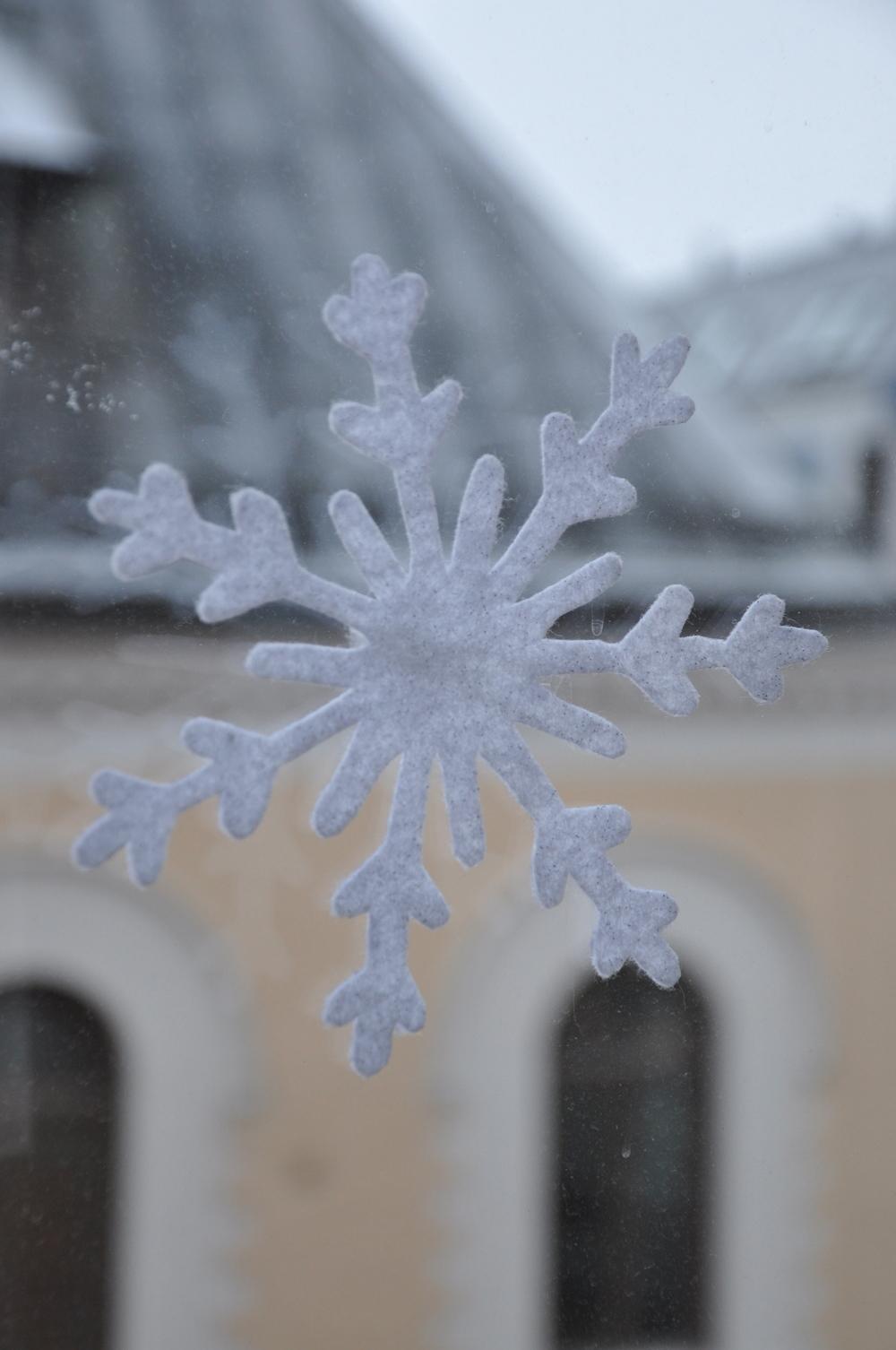 Hemgjorda snöstjärnor i filt ökar mysetinne!   Foto:  Palatsliv