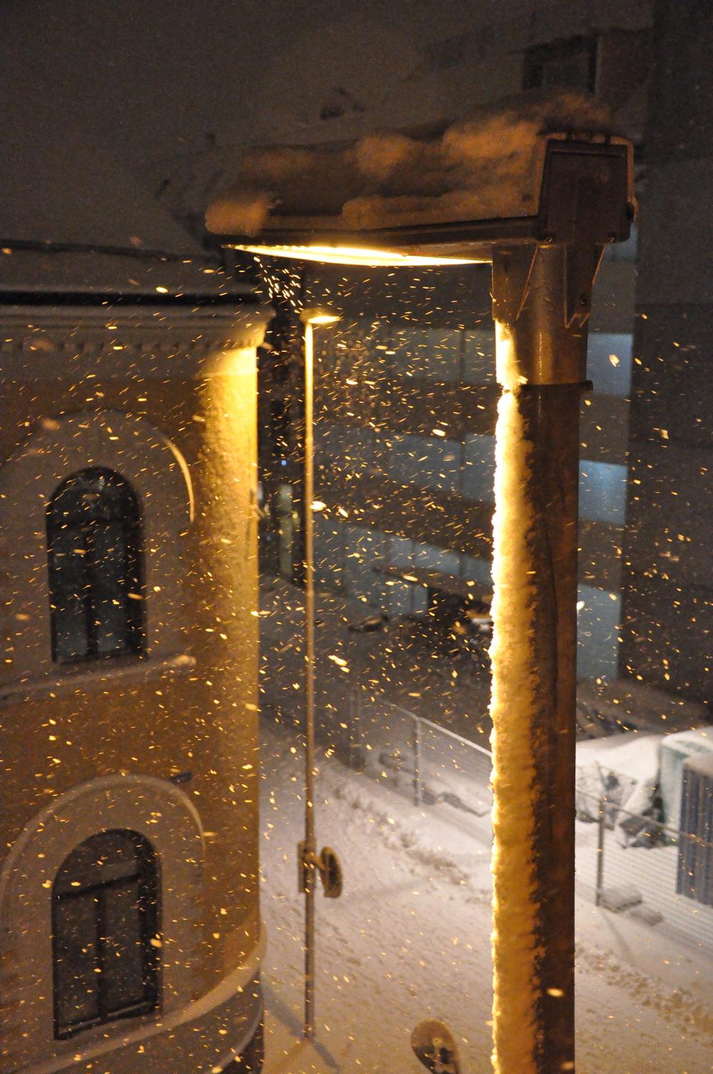 Snön yr utanför våra fönster Foto: Palatsliv