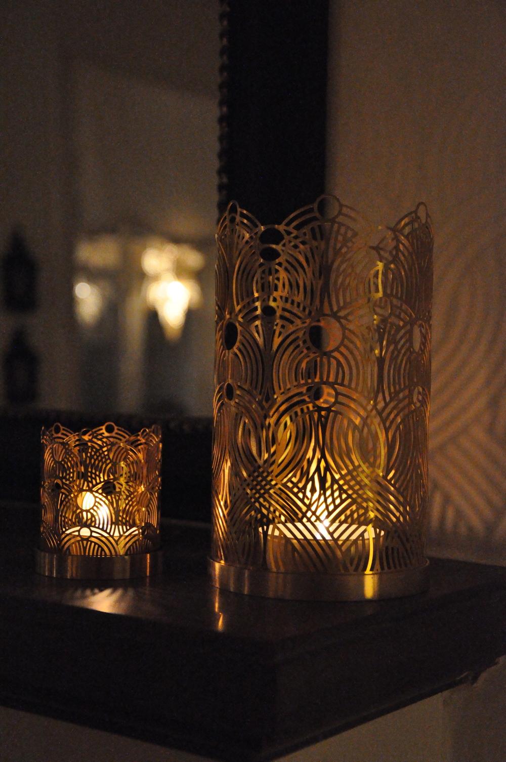 Ljusen brinner i Lara Bohincs lyktor för Skultuna Foto: Palatsliv