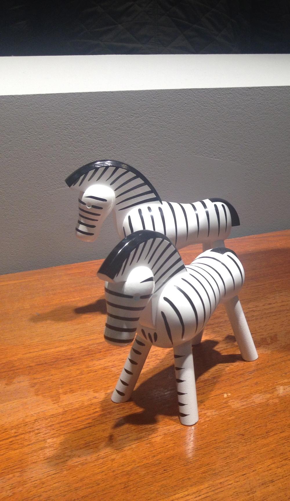 Zebror från populära Kay Bojesen   Foto:  Palatsliv
