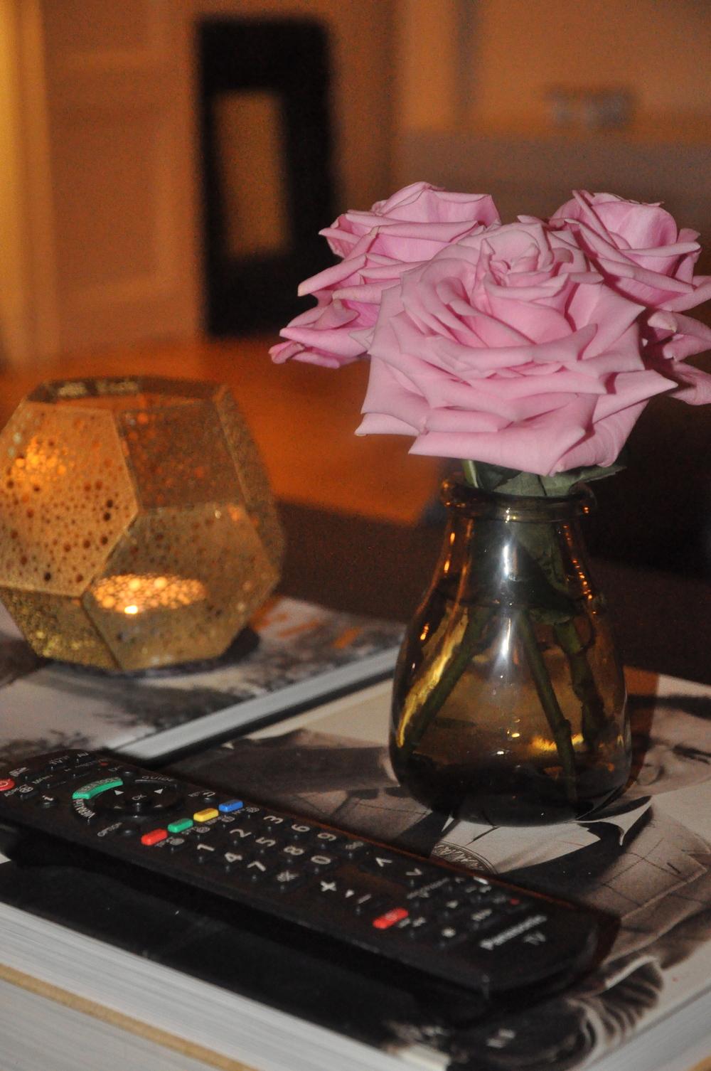 Rosor från helgens dukning   Foto:  Palatsliv