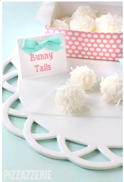 Gå-bort-present? Fyll en hemmagjord kartong med Bunny tails gjorda av vit choklad Foto: Pinterest