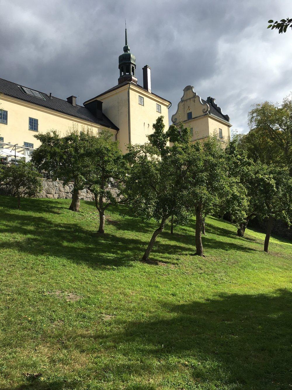 Efter den härliga starten på bryggan åkte vi vidare till Tyresö slott.    Foto:  Palatsliv