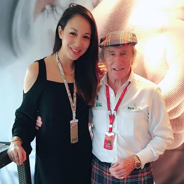 What an amazing dinner with the #legendary #FlyingScot! Sir Jackie Stewart, it was an honor! A true sportsman & a great gentleman. Thanks to @Rolex for the invite! #SGGP #GrandPrix #F1 #GP2016 #Rolex #SirJackieStewart #JackieStewart #f1legend