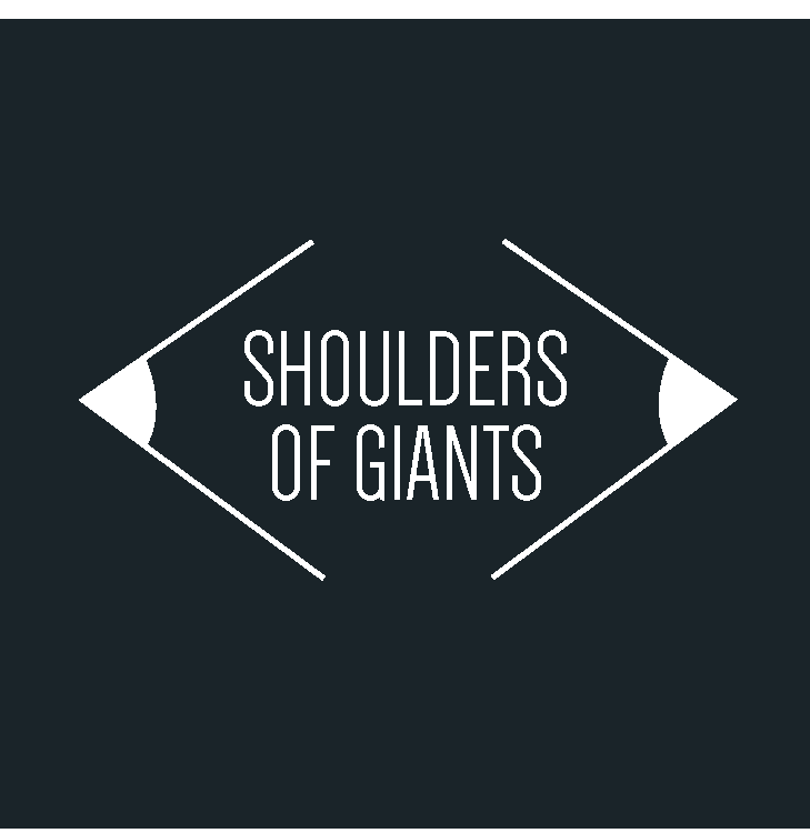 Shoulders of Giants Logo Design Eye Pencil