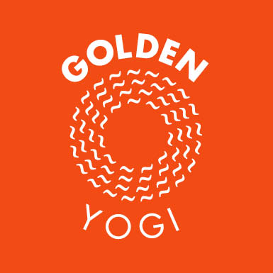 Logo Design Vector Golden Yogi