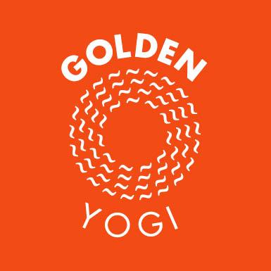 Logo Design Vector Golden Yogi