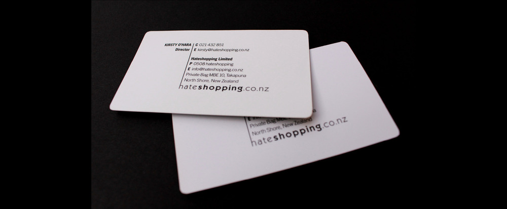 Business Cards -  Hate Shopping Ltd