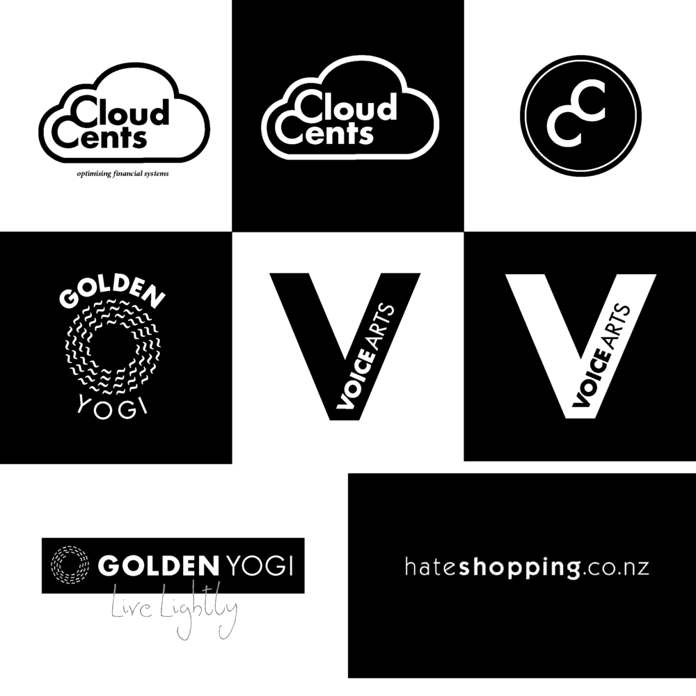 B&W Logo designs. Coloured versions of each logo were also created, in alignment with the brand guidelines of each business.