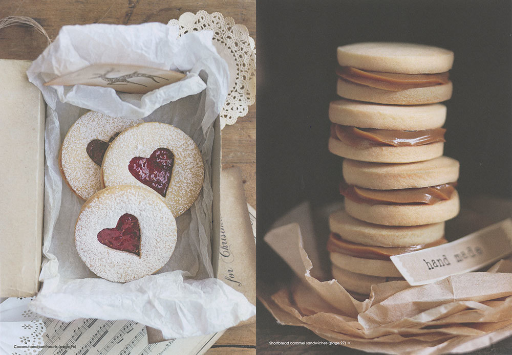Coconut & Jam Hearts | Shortbread Caramel Sandwiches