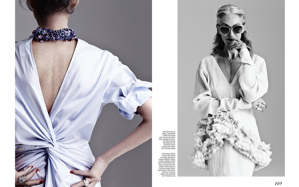 Linda Rodin by Garbor Jurina for Fashion magazine (Canada) May 2014