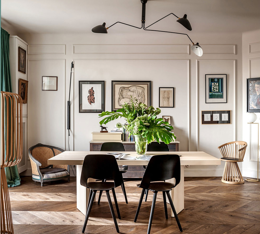 Paris Apartment Decorating Style decor inspiration: a 1930's parisian-style apartment in warsaw