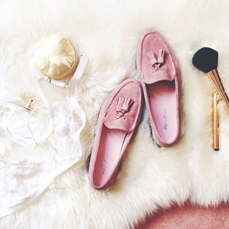 We've taken the classic Tassel Loafer and turned it on its head by recreating it in beautiful Dusky Pink suede. Dress up a favourite pair of blue jeans or pair with a billowy satin dress -- day or night, these pink suede shoes will be the loveliest thing you wear. + shop here