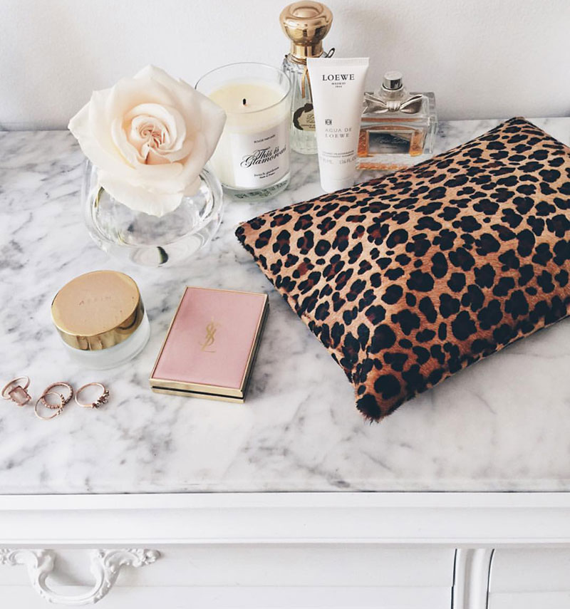 Featured: The Saint-Tropez Zip Pouch in Blush & Leopard