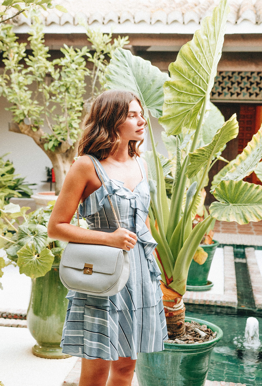 Recently,   This Is Glamorous   Fashion Editor  Victoria Berezhna  collaborated with up-and-coming photographer Sonnie Hiles for this beautifully lush editorial for Belgrave Crescent featuring the  Saint-Germain-des-Prés in Seacliff . Shot on location in Sotogrande, Spain, against a backdrop of bright colours and bougainvillea, the result was pure summer love ...