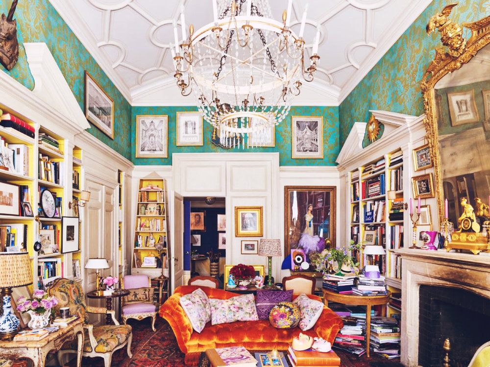 "Hamish Bowles, Vogue's International Editor at Large, describes his New York apartment as ""Proustian"" in that it ""evokes a late-19th-century aesthetic, specifically the Paris or London or New York of the writer and his friends and characters"", but also in that it's a collection of memories. We have long been enamoured with his bright, colourful and deliciously maximalist space and were awfully delighted that Vogue has taken us for another glimpse, as photographed by Annie Schlechter for Polly Devlin's new book, New York: Behind Closed Doors."