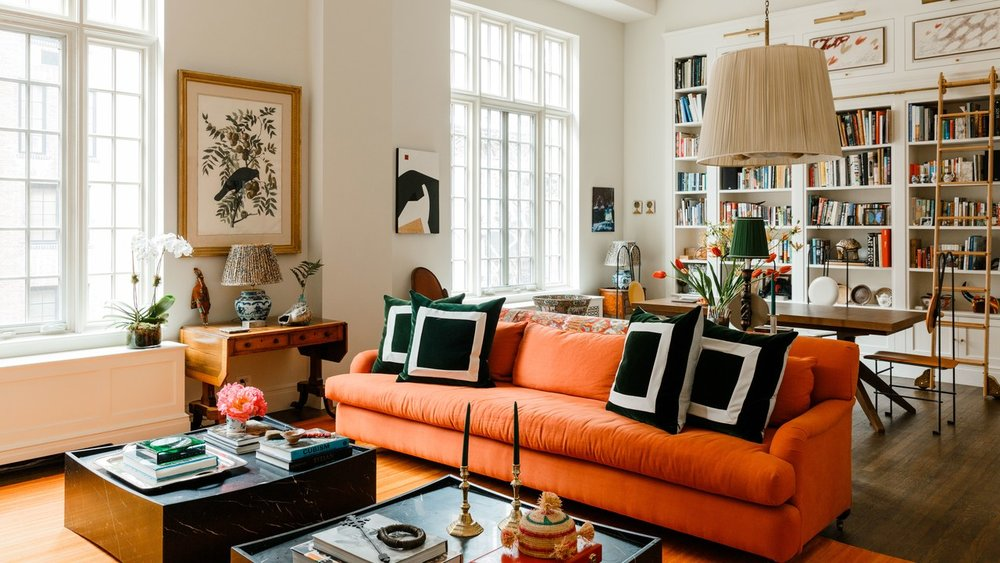 "This week's   At Home With   explores the 1920's one-bedroom Manhattan apartment of James Hirschfeld, one of the cofounders of Paperless Post. ""A lot of my friends have settled downtown or in Brooklyn, but the infrastructure of the Upper East Side—Central Park, the museums, the old-school restaurants, the drug and grocery stores—are what define the New York of my childhood. The neighborhood has a cozy draw for me"" says Hirschfeld. The apartment itself, with its built-in bookcases, brick fireplace and flows of natural light are also clearly a draw. Hirschfeld worked with Weil Friedman Architects and decorator CeCe Barfield to create this bright, art-filled and cosy home."