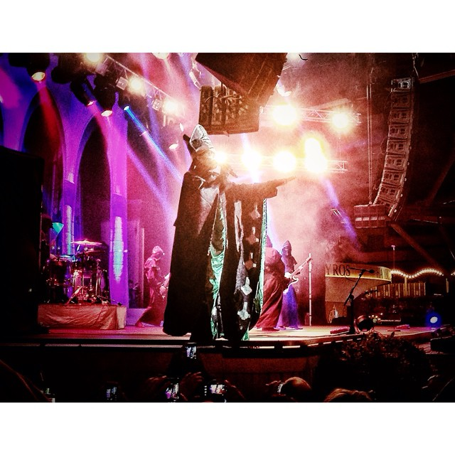 new favorite band #ghost #ghostbc #papaemeritusii #tivoli #stockholm