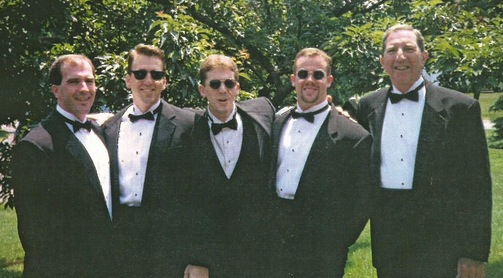 Mike   Kane's Wedding: Chris, Tim, Mike, Kevin, and their father, Bernie
