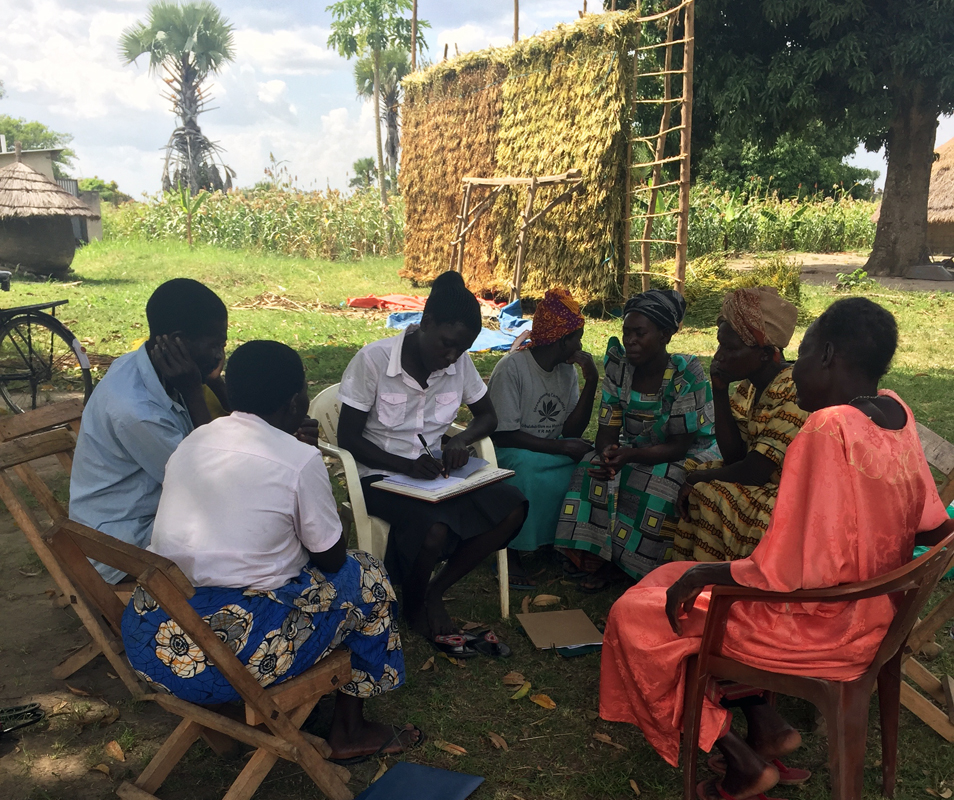 KRMA member Proscovia facilitates small group during 2016 Record keeping training