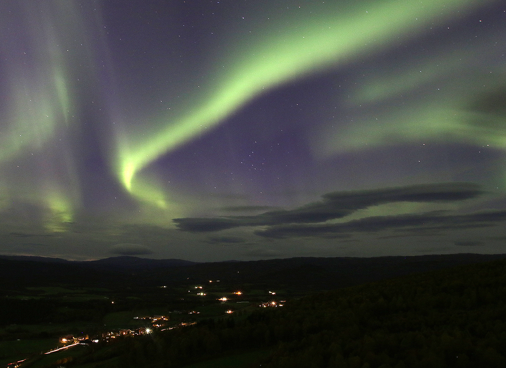 Bildet er tatt fra toppen av Jakobsåsen, med utsikt nordvestover. Foto: A. Nyaas